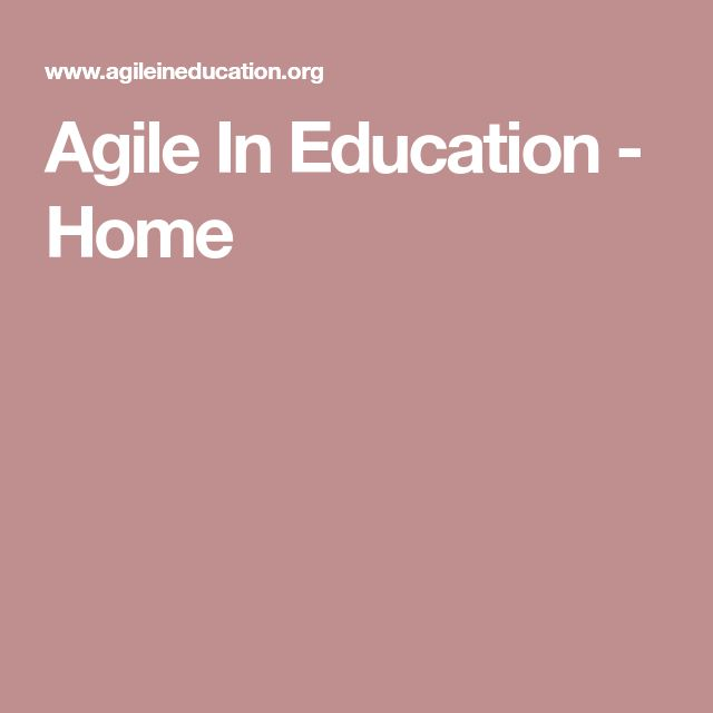 Agile In Education - Home