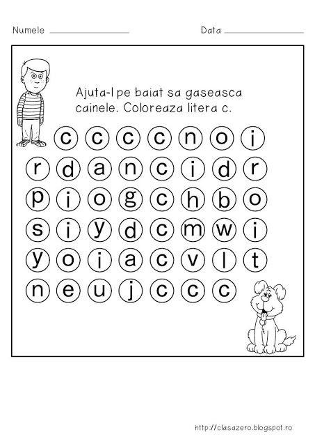 Clasa pregatitoare: Fisa de lucru pentru sunetul si litera C
