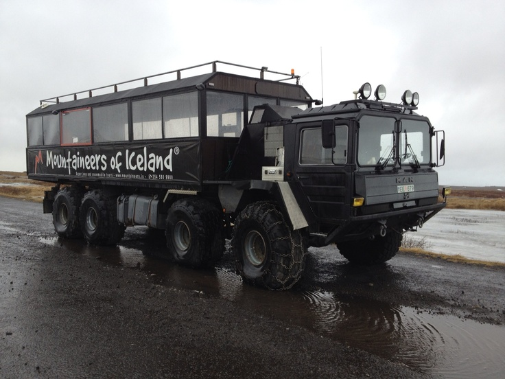 Iceland tour truck