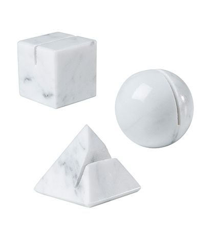 White Marble Place Card Holders - Crockery & Utensils - Kitchenware - Kitchen & Dining - The Conran Shop UK