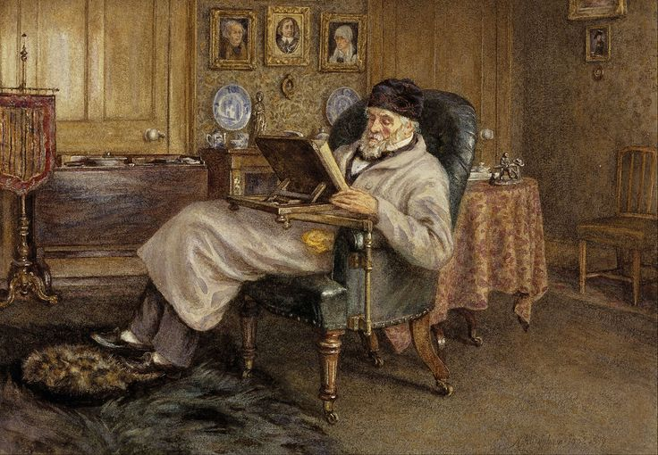 Mrs Helen Allingham - Thomas Carlyle, 1795 - 1881. Historian and essayist - Helen Allingham's 1879 painting of Carlyle