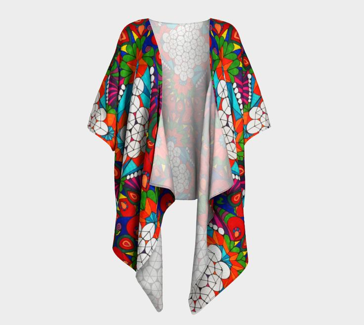 Bubble forest Draped Kimono preview #1