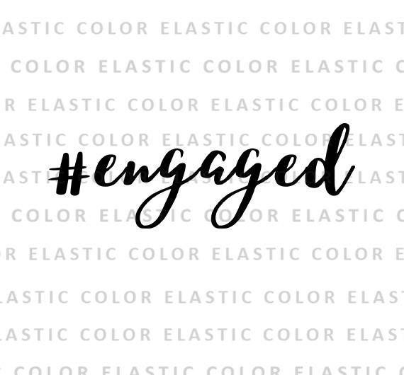 Engaged hashtag svg file engaged handwritten digital file
