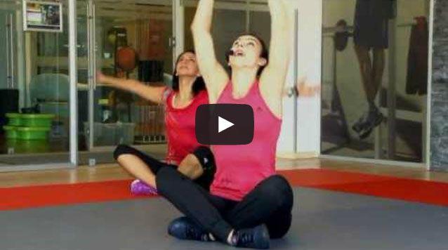Exercitii de gimnastica aerobica cu Cristina Nedelcu - Pescariu Sports & SPA