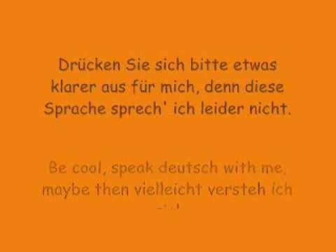 ▶ Die Prinzen - Be cool speak Deutsch - YouTube