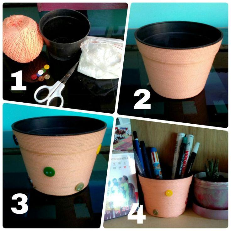 Reuse old flower pot #diy project #old pot
