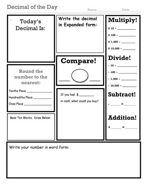 Fractions on a number line worksheet common core