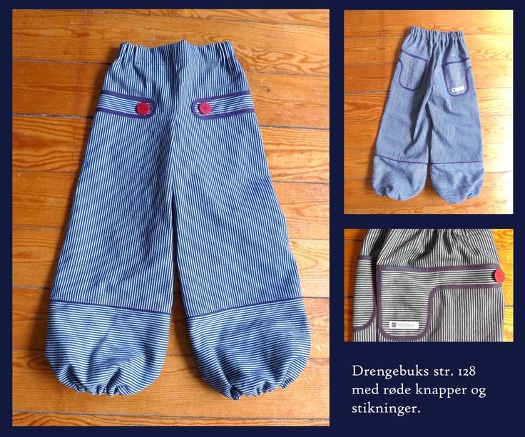 maj maj's fede bukser - striber og røde knapper