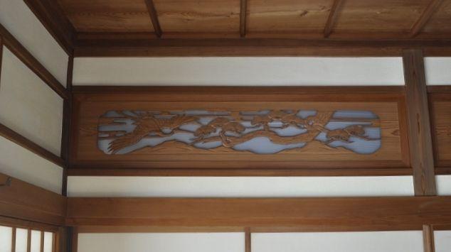 和室欄間-漆喰塗り