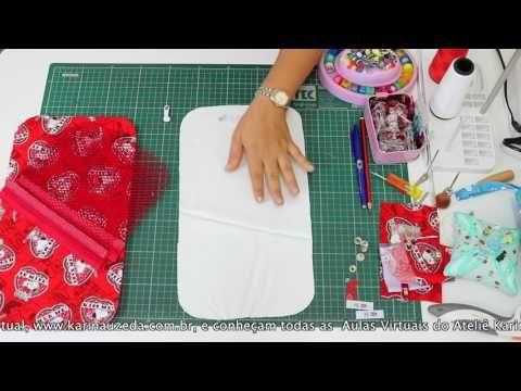 Como fazer o Porta Alicate de Unha e Porta Maquiagem Kau Uzêda (Passo a Passo) - YouTube