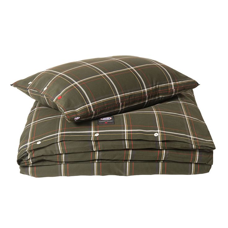 Costel Check Duvet Cover 220x220cm, Green - Canada Goose - Canada Goose Home - RoyalDesign.com