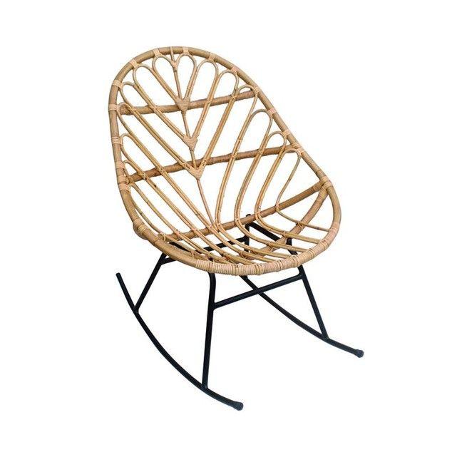 Rocking Chair En Rotin Ette Fauteuil A Bascule En Rotin Chaise A Bascule Chaise Rotin