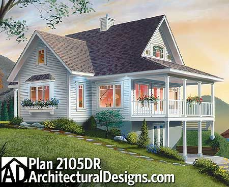 Plan 2105dr Cottage With Loads Of Options House Plans