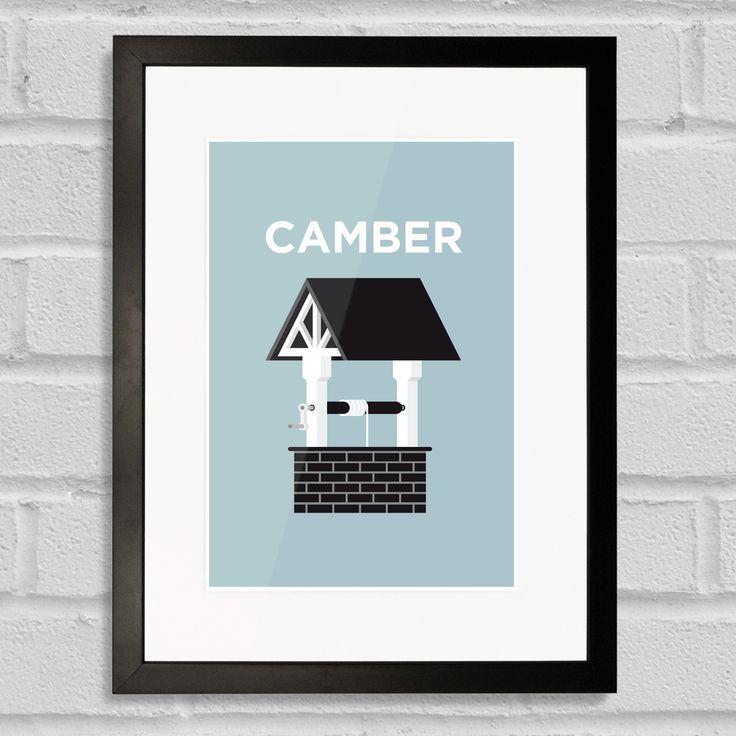 Pate Camberwell Art Poster Print Black Frame