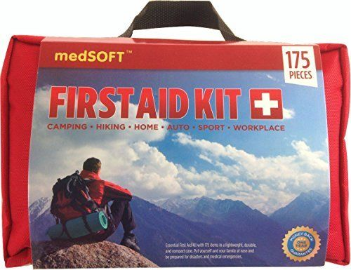 First Aid Kit (175 Pieces) - For minor emergencies and survival preparedness - For Home, Business, Auto, Camping, Sport