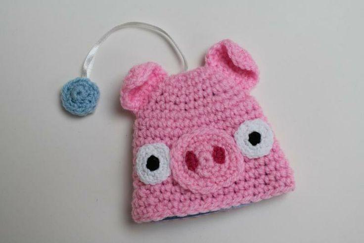 Pink Piggie Sleutelhoes van Crafty Queens op DaWanda.com
