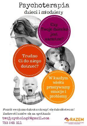 plakat psychoterapia dzieci