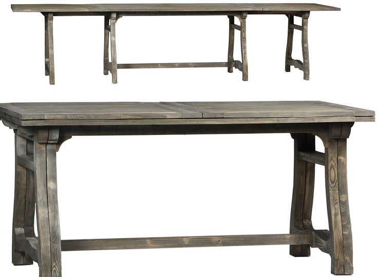 Shop For Dovetail Collins Dining Table, And Other Dining Room Dining Tables  Built In Reclaimed PineGrey Toned Finish.