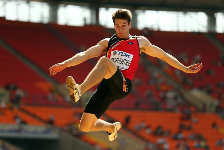 Thomas van der Plaetsen of Belgium competes in the Men's Decathlon Long Jump during Day One of the 14th IAAF World Athletics Championships Moscow 2013 at Luzhniki Stadium on August 10, 2013 in Moscow, Russia.