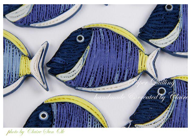 종이감기로 만든 물고기 -tang fish, nimo fish : 네이버 블로그