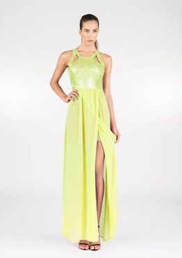 Everglaze Dress | KUKU | neon yellow