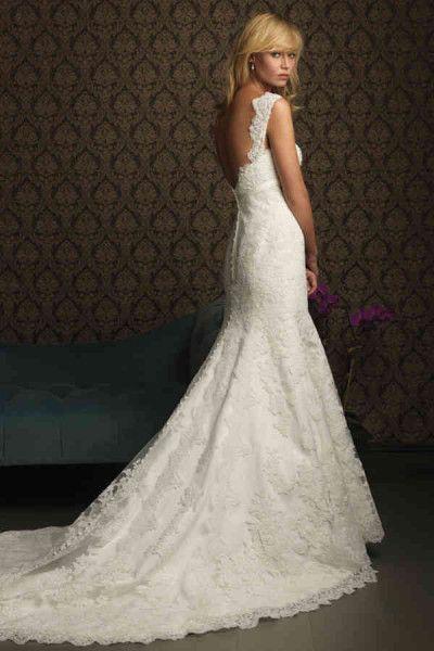Meerjungfrauenkleid mit V-Ausschnitt in Tüll mit Spitze, brautkleid hochzeitskleid mit spitze, brautkleid spitze meerjungfrau, brautkleider ärmel spitze - Hochzeitskleid, hochzeitskleider trägerlos,
