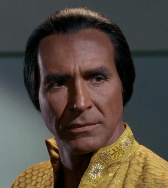 Khan Noonien Singh, a admirer of the Klingon culture among other things.