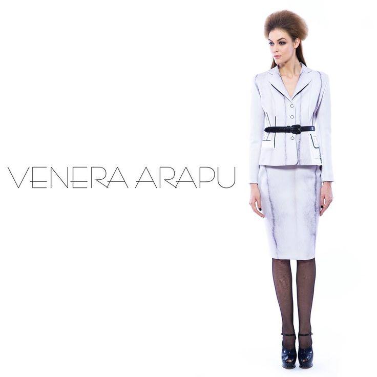 Printed suit from the Venera Arapu fw15 collection, now online at www.venera-arapu.com