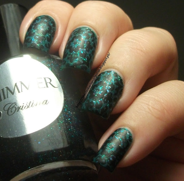 The Clockwise Nail Polish: Shimmer Polish Cristina mattified with MASH Matte Polish