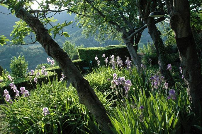 Les jardins des Terrasses sont accrochés à flanc de colline, en plein cœur de la Drôme provençale