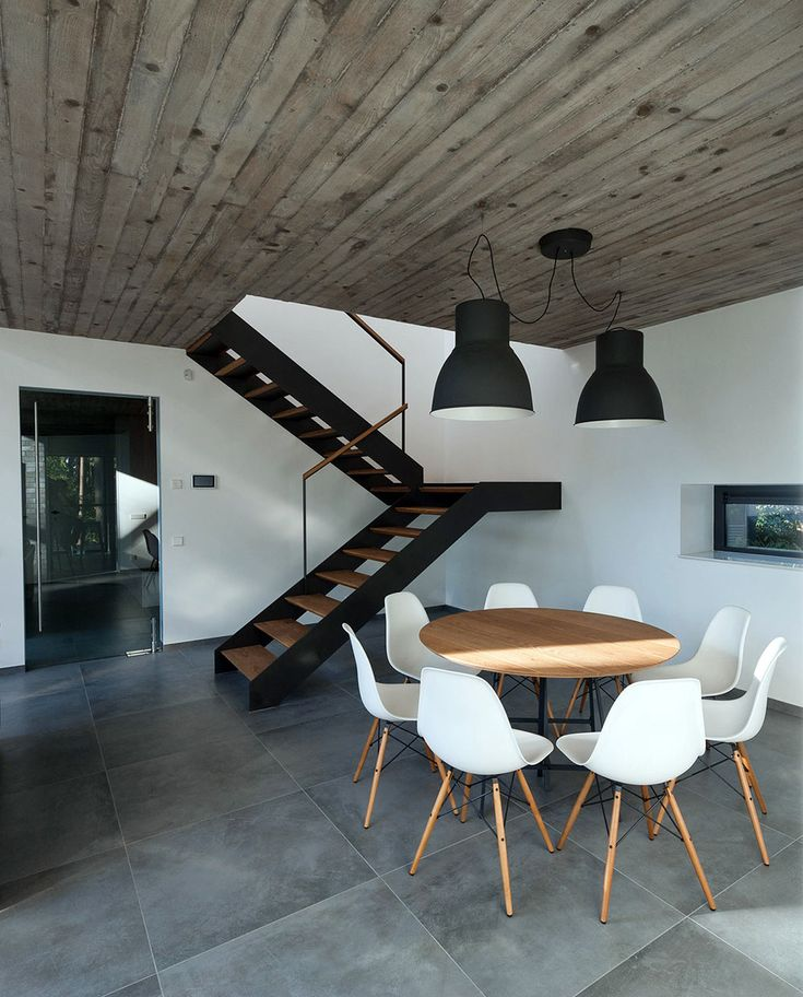 Stairs in Black House Blues. Lithuania by Studija Archispektras