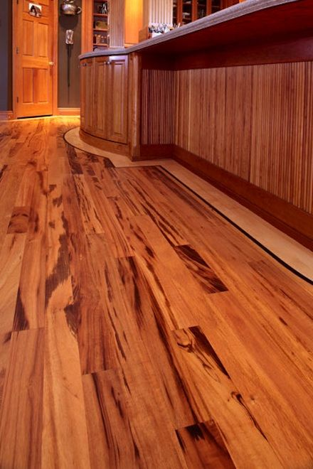 Tigerwood Retrofit Into An Existing Maple Wood Floor