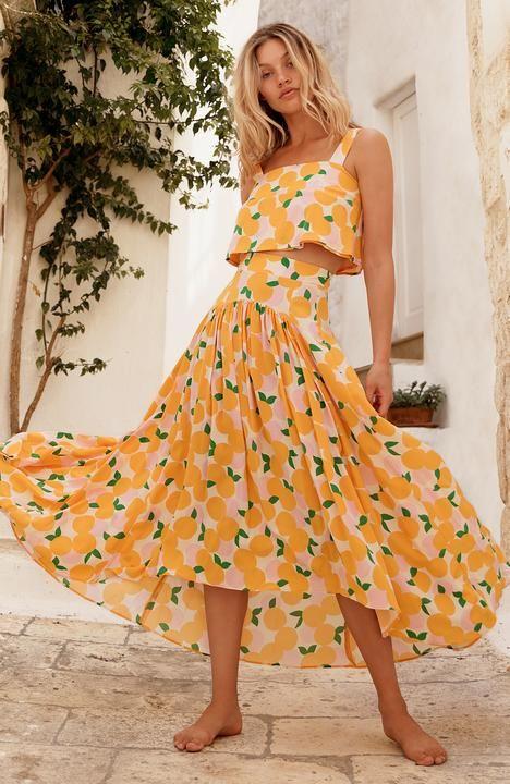 890c1e96e6 MANDARIN BETSY SET | Holiday 2018 in 2019 | Fashion, High waisted skirt,  Skirts