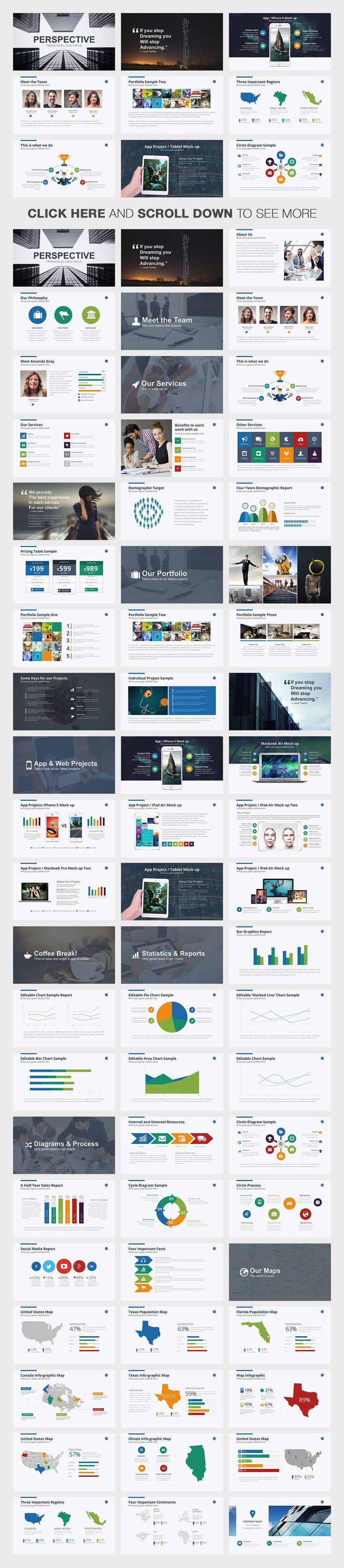 Perspective | Powerpoint Template by Louis Twelve on Creative Market