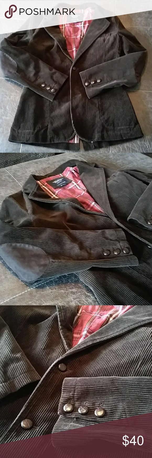 American Eagle Outfitters Mens Blazer Excellent pre-loved condition. Brown color. 100% Cotton. Very comfy and top quality by American Outfitters! Size S American Eagle Outfitters Jackets & Coats