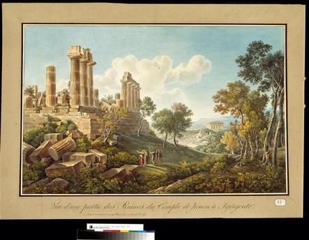 Vue d'une partie des Ruines du Temple de Junon à Agrigente Cassas Louis-François (1756-1827)