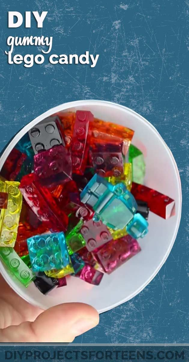 DIY Gummy Lego Candy Tutorial - Cool DIY Projects for Teen Boys and Girls - Fun Step by Step Video Tutorial and Instructions