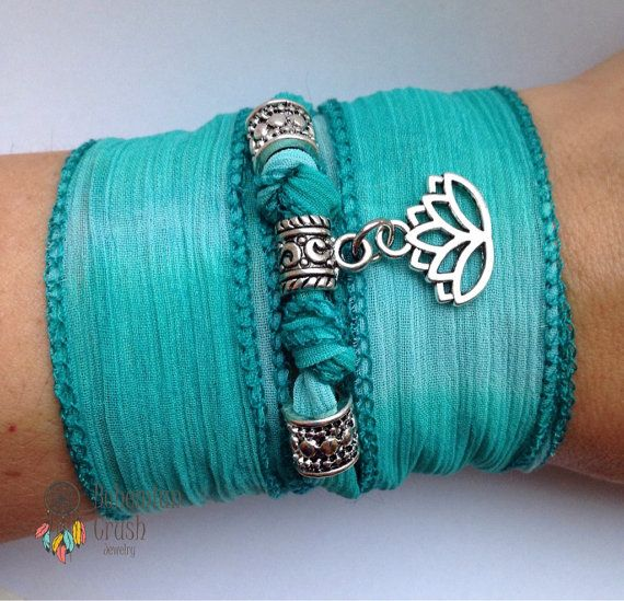 Check out this item in my Etsy shop https://www.etsy.com/ca/listing/269968874/silk-wrap-bracelet-lotus-flower-wrap