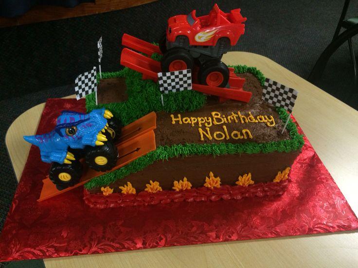 Blaze and the monster machine birthday cake.