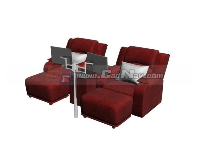 Spa Foot Bath Massage Chairs 3d Model 3DMax Files Free Download