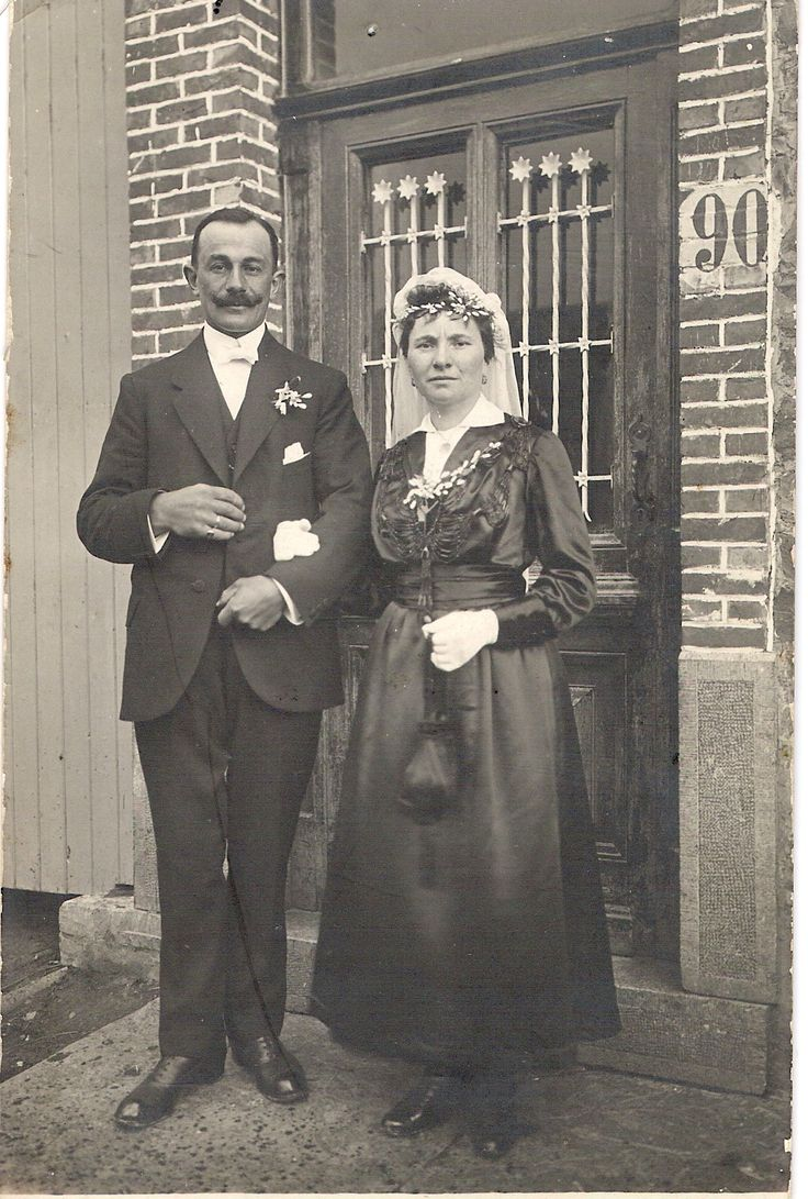 My grandparents Joseph and Marie-Eugénie WILLIEME-PIGNOLET on their wedding day in 1918 or 1919.