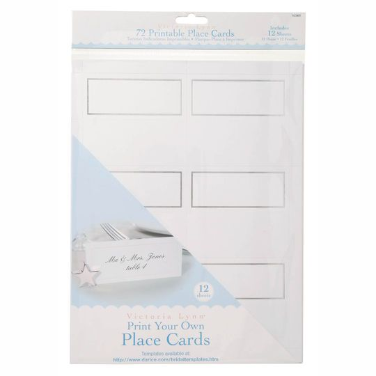 Victoria Lynn™ Print Your Own Place Cards, 72