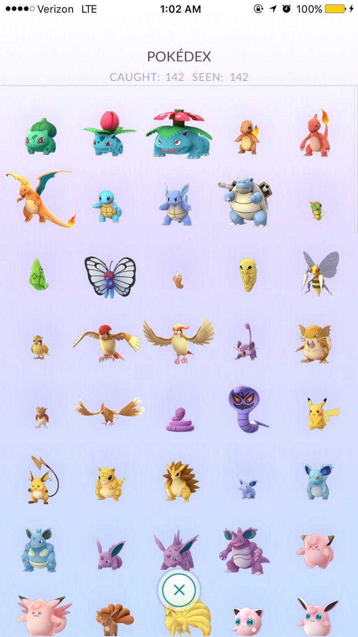 pokemon go complete pokedex