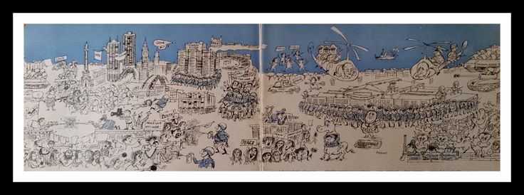 1968 Democratic Convention All the Kook-SDS, anarchists, Black Panthers, Weather Underground vs Chicago Daley machine Illustration 2 pages by bluemtcreative2 on Etsy