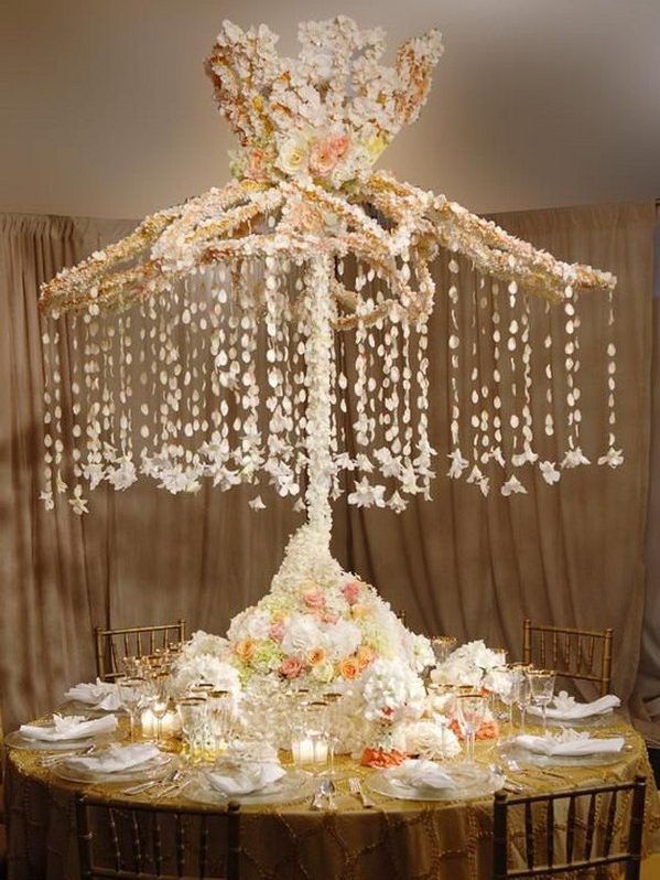 use old umbrella to decorate wedding table, Creative Old Umbrella Repurpose Ideas, http://hative.com/creative-old-umbrella-repurpose-ideas/,