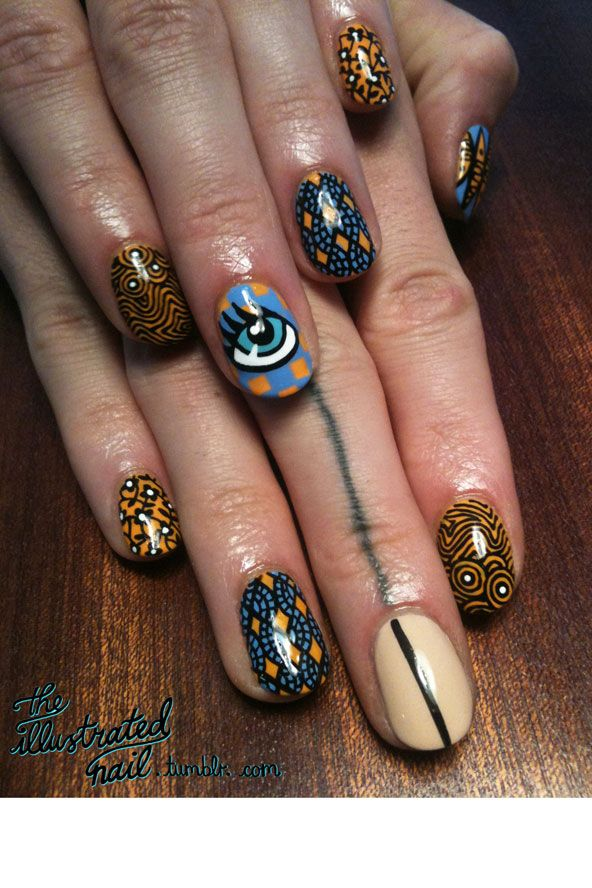 African Inspired Nail Art