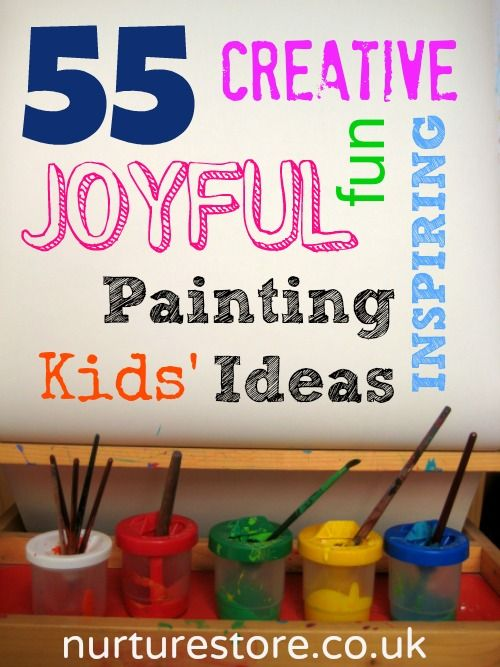 """kids painting- I especially love the tip to make it a """"yes"""" event!"""
