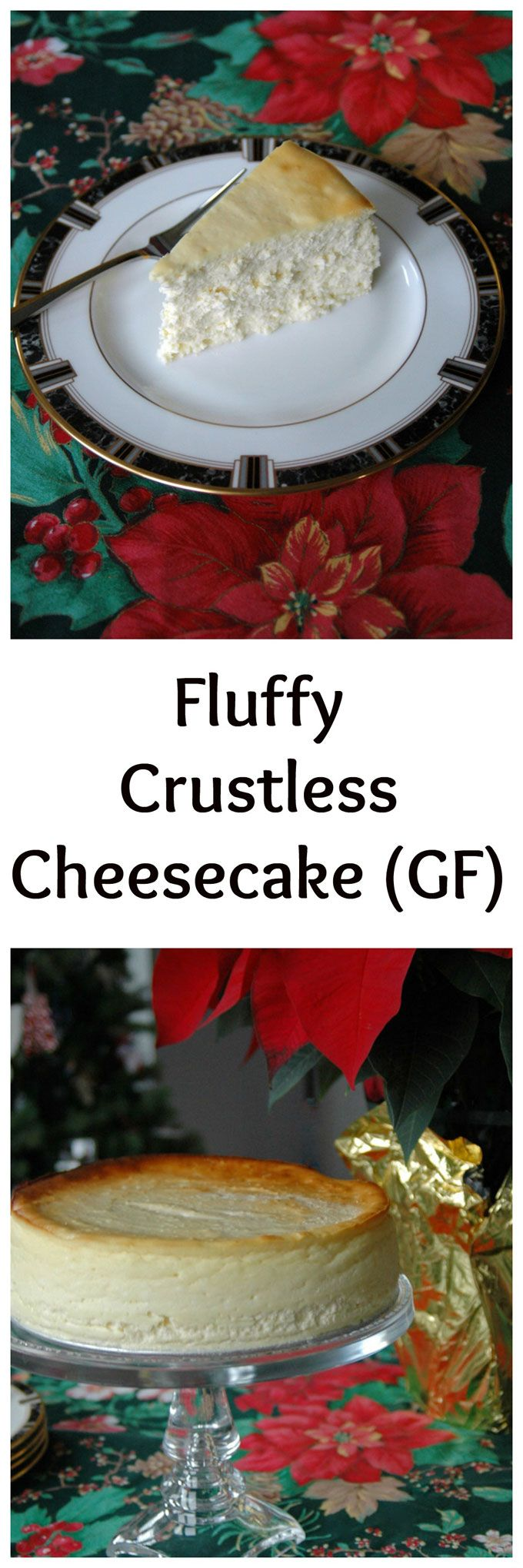 Fluffy Crustless Cheesecake - the best cheesecake, and it's gluten free! One of the most popular recipes on Cooking with Mamma C!