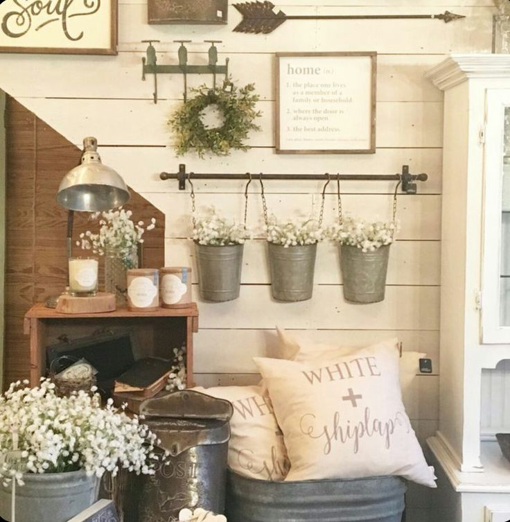 27 Rustic Wall Decor Ideas To Turn Shabby Into Fabulous. Farmhouse Office Modern ...