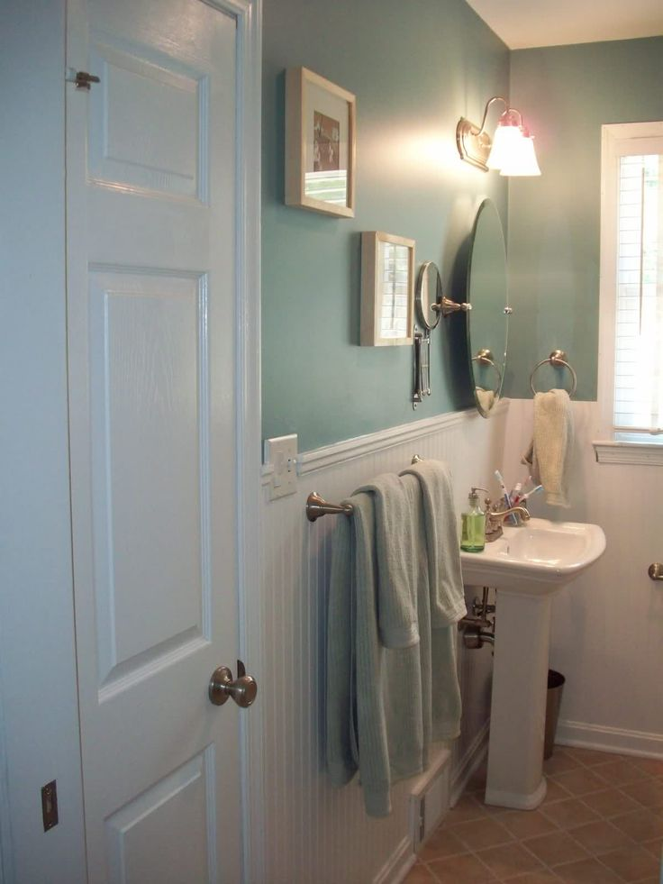 Bathroom Color Scheme Brown And Blue
